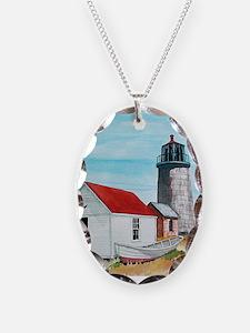 Necklace Oval Monhegan Lighthouse