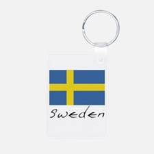 Sweden (Flag, International) Keychains