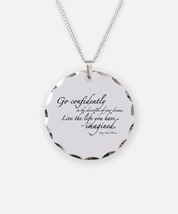 Henry David Thoreau Necklace Circle Charm