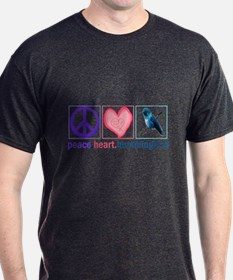 PEACE HEART HUMMINGBIRD T-Shirt