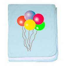 BALLOONS SAY PARTY TIME baby blanket