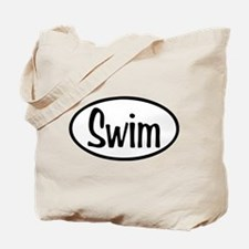 Swim Oval Tote Bag