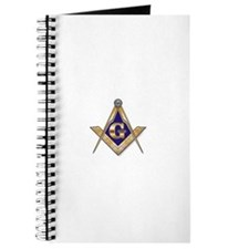 Discreet Blue Square & Compasses Journal