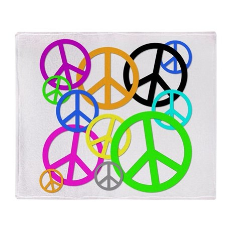Peace Signs Throw Blanket