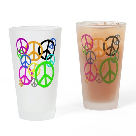Peace Signs Pint Glass
