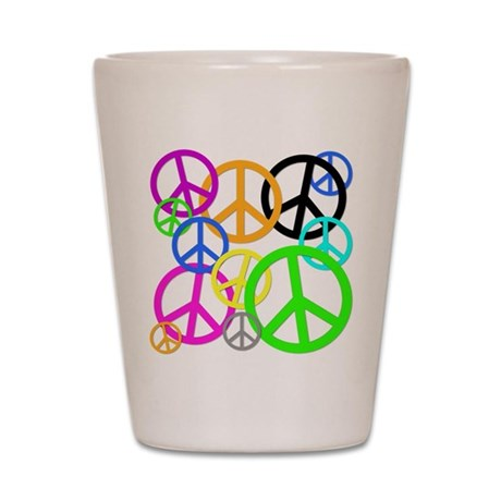 Peace Signs Shot Glass