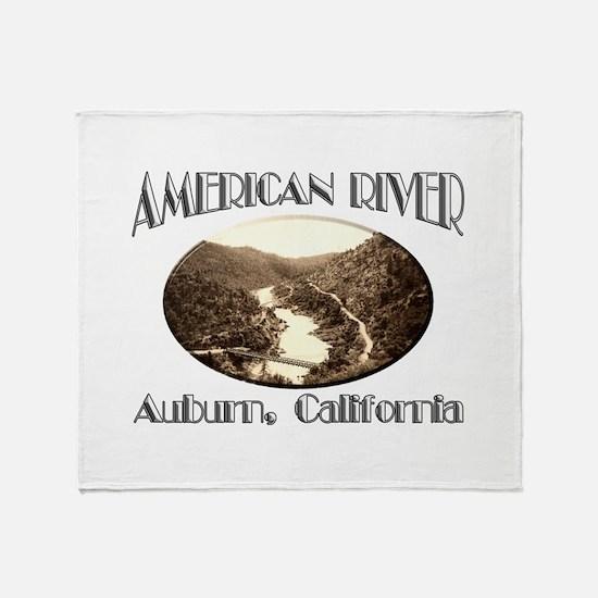 American River Throw Blanket