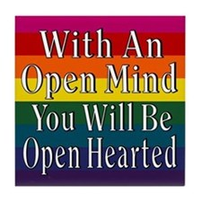 Open Mind Open Hearted Tile Coaster