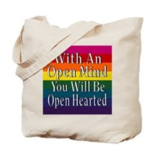 Open Mind Open Hearted Tote Bag