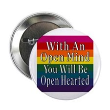 "Open Mind Open Hearted 2.25"" Button"