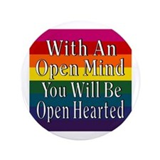 """Open Mind Open Hearted 3.5"""" Button"""