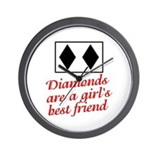 Diamonds: girl's best friend Wall Clock