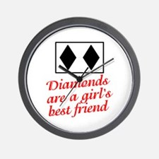 Diamonds: girl's best friend Wall Clock