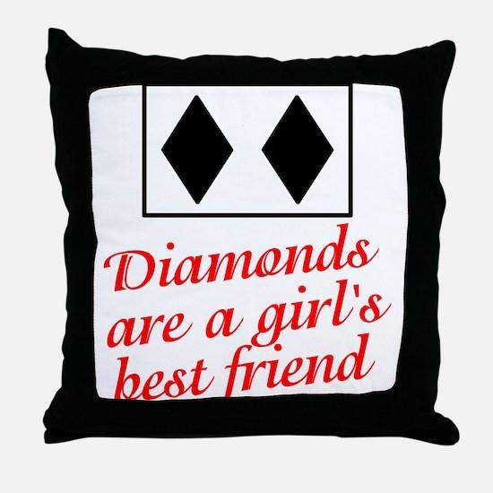 Diamonds: girl's best friend Throw Pillow