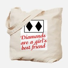 Diamonds: girl's best friend Tote Bag