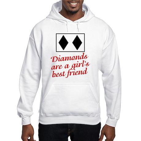 Diamonds: girl's best friend Hooded Sweatshirt