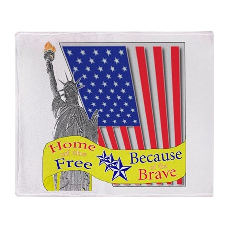 Home of the Free Because of t Throw Blanket