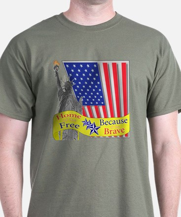 Home of the Free Because of t T-Shirt