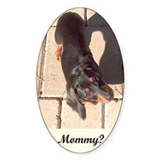 Mothers Day Dachshund Dogs Oval Decal
