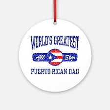 Puerto Rican Dad Ornament (Round)