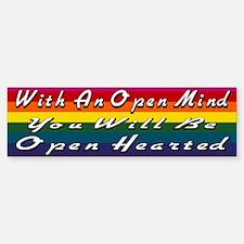 Open Mind Open Hearted Sticker (Bumper)