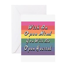Open Mind Open Hearted Greeting Card