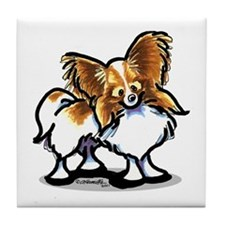 Papillon Lover Tile Coaster