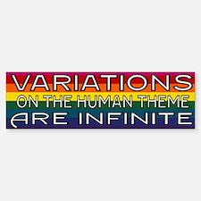 Variations On Humanness Bumper Bumper Sticker