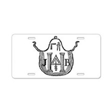 Colonial Apron Aluminum License Plate