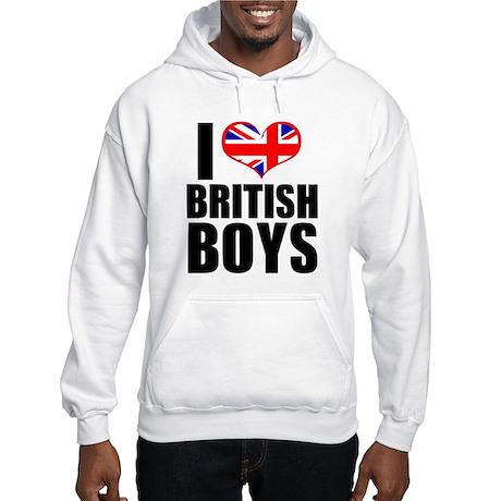 i heart british boys Hooded Sweatshirt
