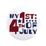"My 1st 4th of July 3.5"" Button (100 pack)"