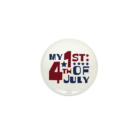 My 1st 4th of July Mini Button (10 pack)