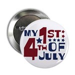 "My 1st 4th of July 2.25"" Button"