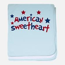 American Sweetheart baby blanket