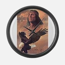 Unique Native american Large Wall Clock