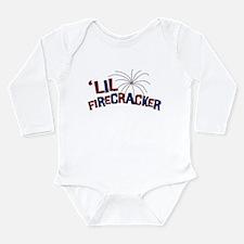 'Lil Firecracker Long Sleeve Infant Bodysuit