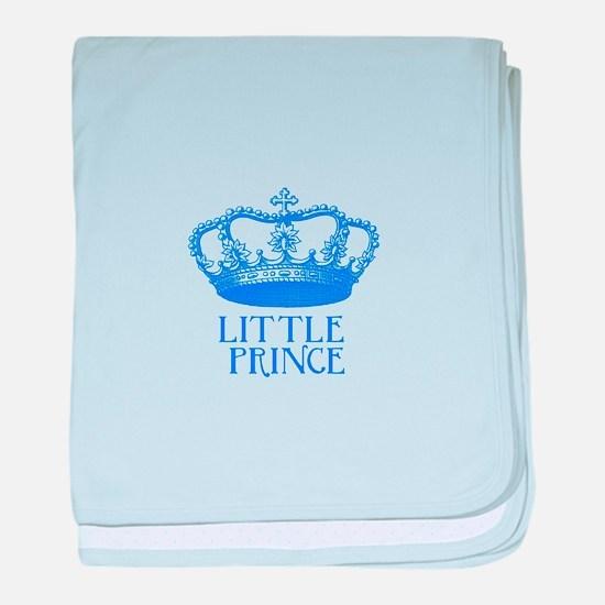 little prince (blue) baby blanket