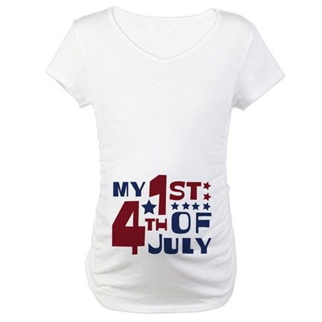 My 1st 4th of July Maternity T-Shirt