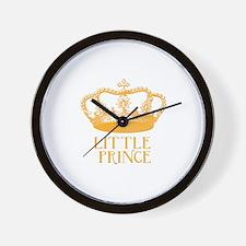 little prince (orange) Wall Clock