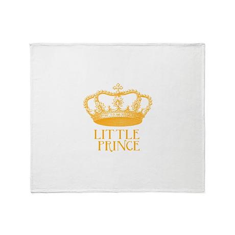 little prince (orange) Throw Blanket