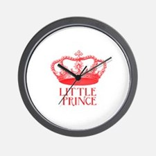 little prince (red) Wall Clock