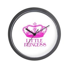 little princess (pink) Wall Clock
