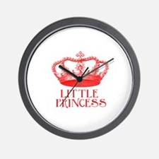 little princess (red) Wall Clock