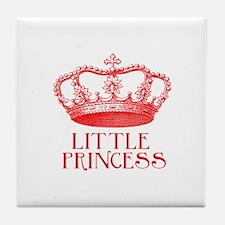 little princess (red) Tile Coaster