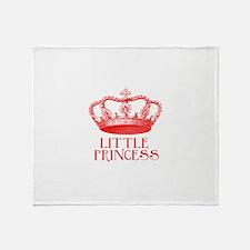little princess (red) Throw Blanket