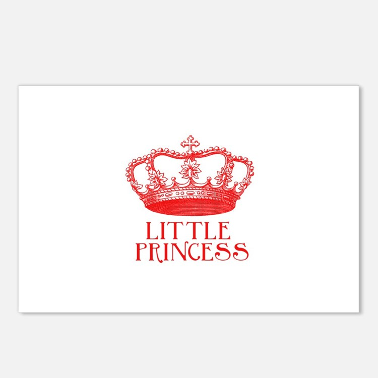 little princess (red) Postcards (Package of 8)