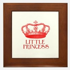 little princess (red) Framed Tile