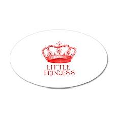 little princess (red) 22x14 Oval Wall Peel