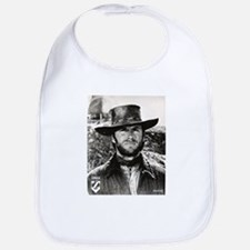 Clint Eastwood Black and White Baby Bib