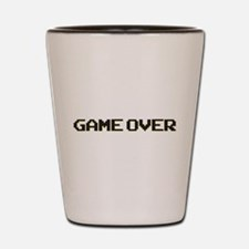 Cute Game over Shot Glass